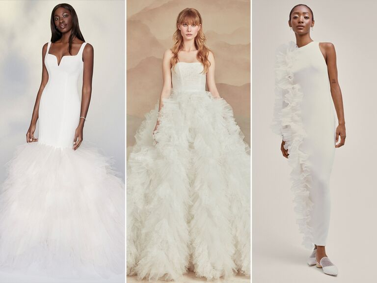 wedding dresses with ruffles