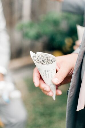 Tossing Seeds for Ceremony Exit