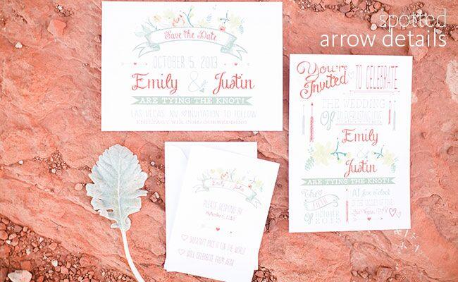 Arrow Wedding Details | J. Anne Photography | blog.theknot.com