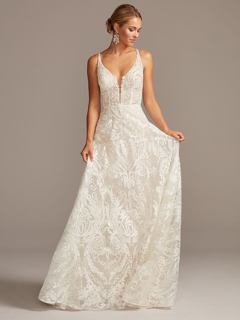 Galina Signature beaded A-line wedding dress