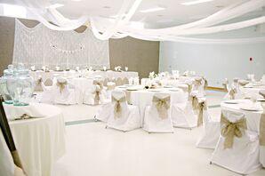 Rustic Ivory Wedding Reception