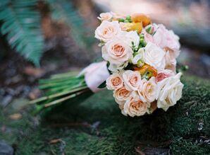 DIY Rose and Hypericum Berry Bouquet