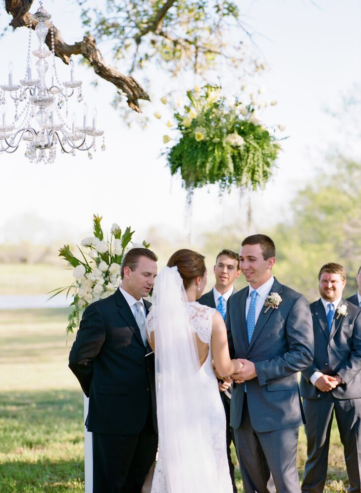 "It was important to the couple that only their nearest and dearest be a part of their special day. Josh Tatum strummed Bob Dylan's ""To Make You Feel My Love"" as the wedding party entered. The couple's hometown pastor performed the ceremony."