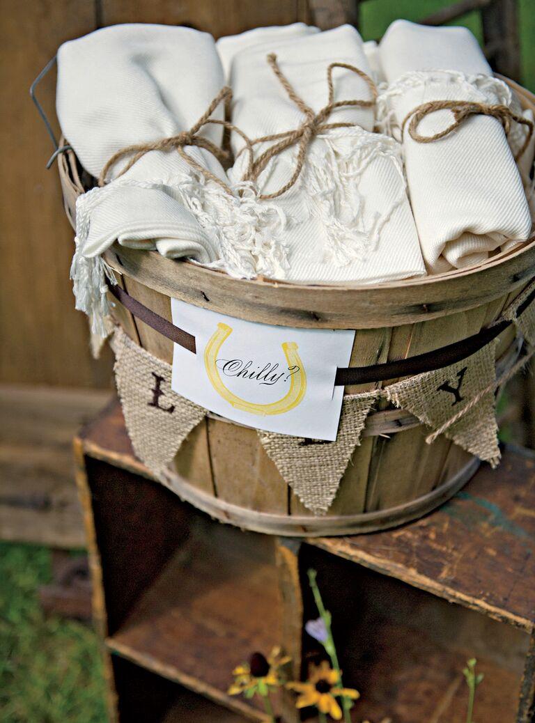 Pashmina wedding favor burlap garland