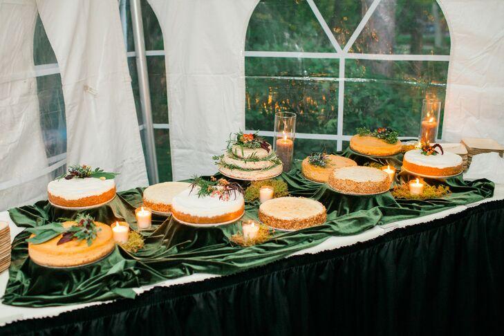 Wedding Cheesecake Display