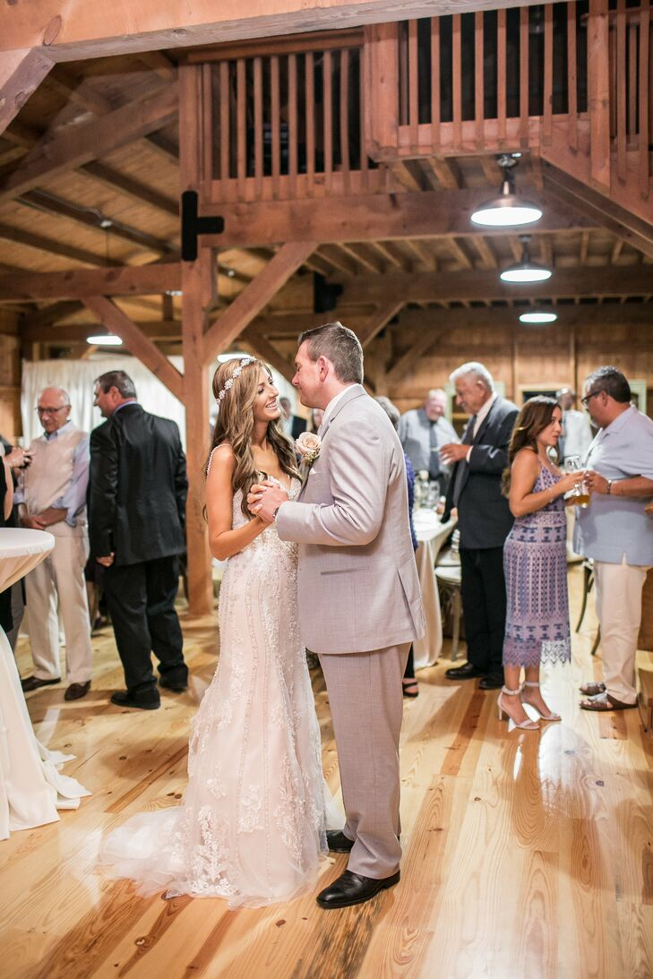 """Italia and Andy's first-dance song was """"True Companion"""" by Marc Cohn. """"We chose that song because Andy played it for me on our first weekend getaway,"""" Italia says."""
