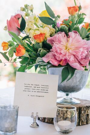 Famous Love Quotes Table Decor