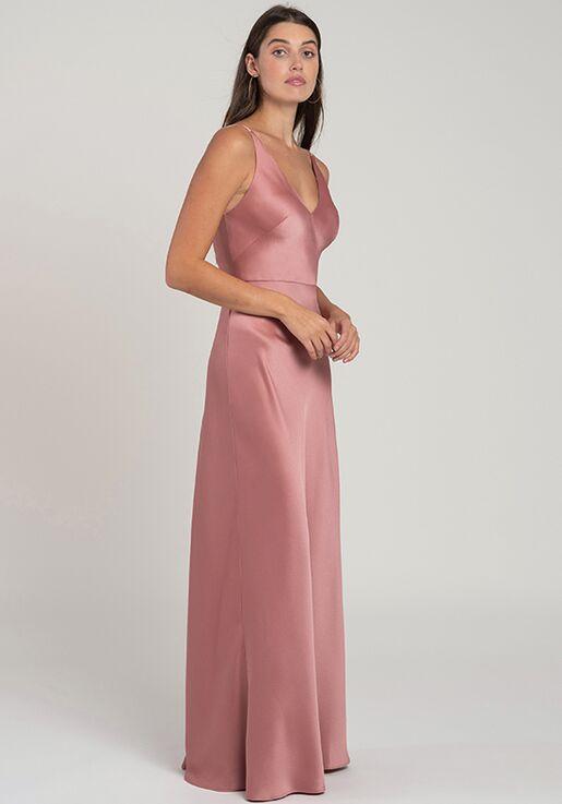 Jenny Yoo Collection (Maids) Marla V-Neck Bridesmaid Dress