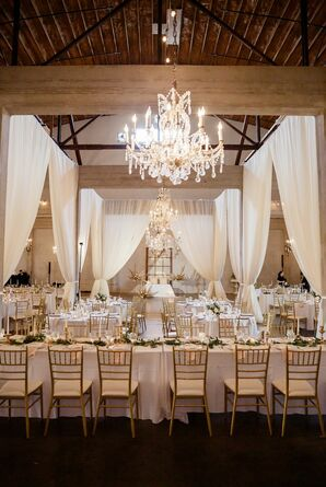 Elegant and Classic Reception Setup at Willow Ballroom in Hood, California