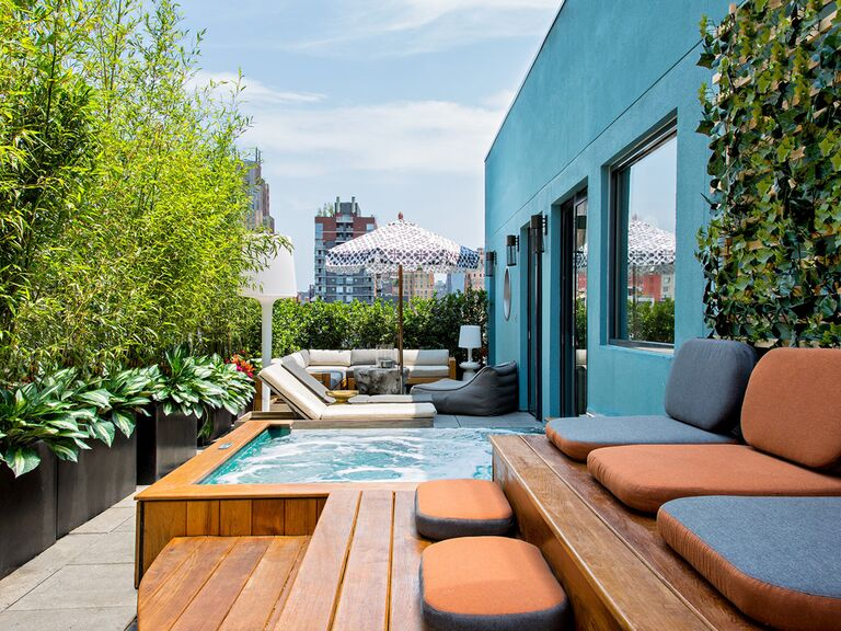 The terrace at the GuestHouse at Dream Downtown in New York, New York