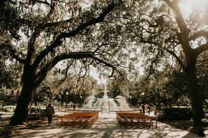 Ceremony at Forsyth Park in Savannah, Georgia