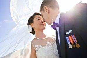 Illusion Neckline Bridal Gown