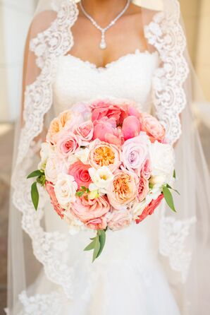 Bouquet with Peonies, Vendela Roses and Sweet Peas