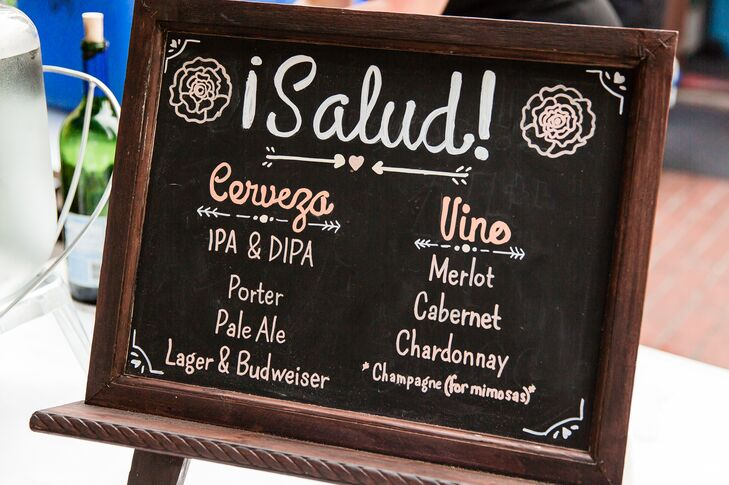 Spanish Chalkboard Bar Menu