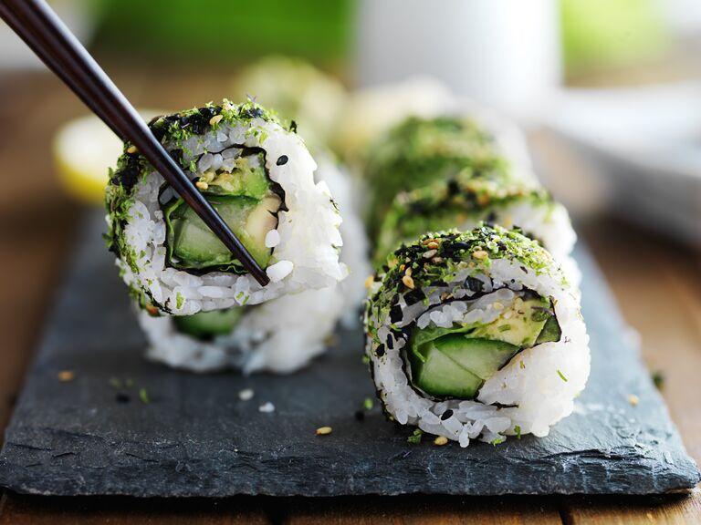 Vegetarian Wedding Menu Vegetable Sushi