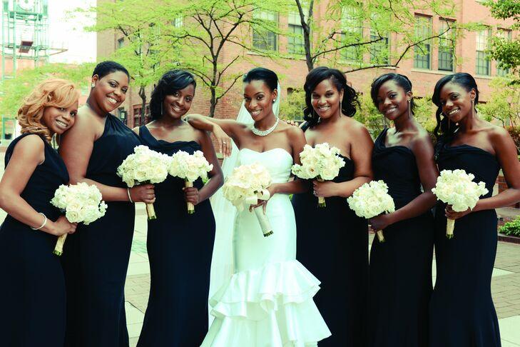 Black One Shoulder Bridesmaid Dresses