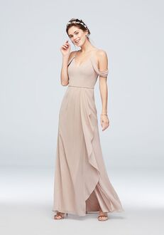 David's Bridal Collection David's Bridal Style F20010 V-Neck Bridesmaid Dress
