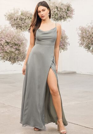 Lulus Until Then Dusty Sage Cowl Neck Maxi Dress Bridesmaid Dress