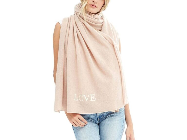 Naked Cashmere LOVE scarf for Breast cancer