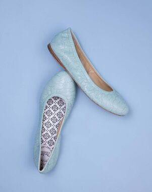 Hey Lady Shoes Smitten Ballet Green, Pink, Silver, Gray Shoe