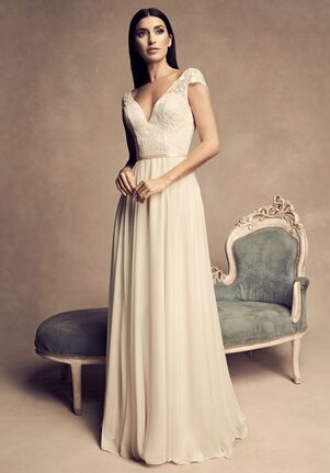 Paloma Blanca 4816 Sheath Wedding Dress