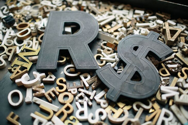 Gold and Black Block Letters