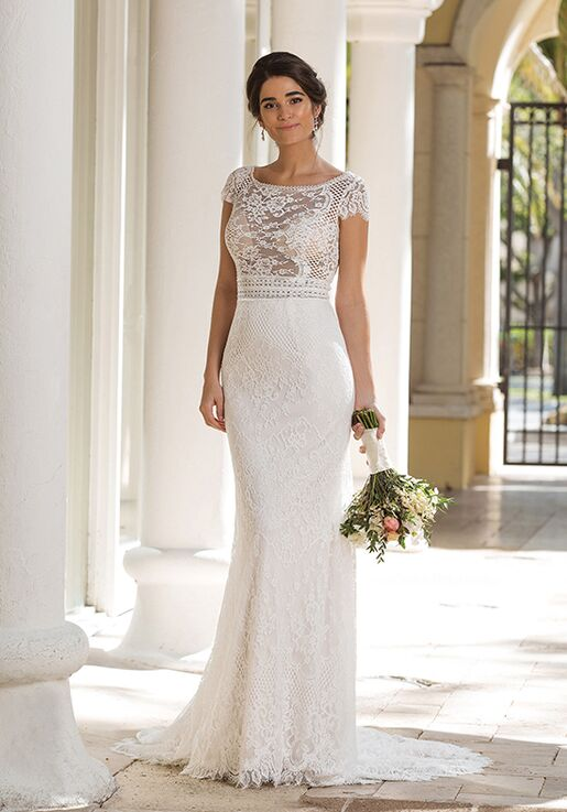 Sincerity Bridal 44092 Sheath Wedding Dress