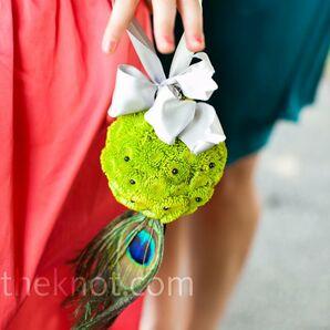 Green Flower Girl Pomander