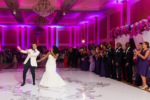 Elegant Couple Performing Lively First Dance