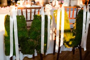 Moss Letter Chair Decorations