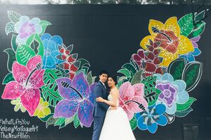 Floral Mural First Look Backdrop