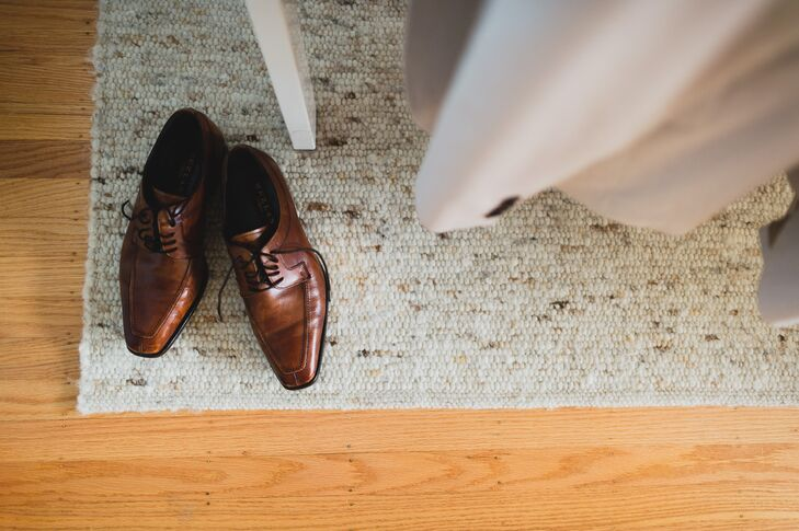 Brown Dress Shoes on Carpet
