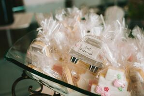 Personalized Car-Shaped Cookie Favors for Wedding in Granite Bay, California