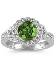 Shane Co. Vintage Round Cut Engagement Ring