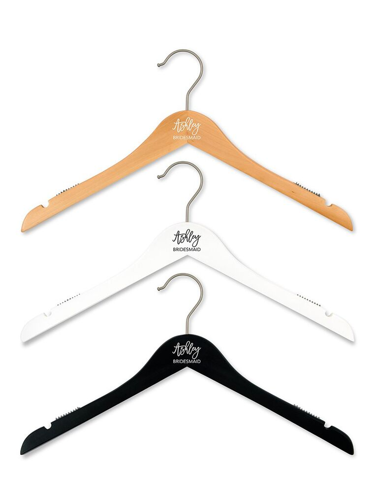 Bridesmaid proposal gift personalized dress hanger