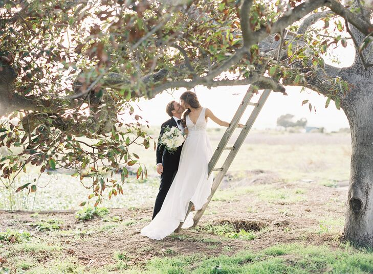 Bride and Groom at Dos Pueblos Orchid Farm