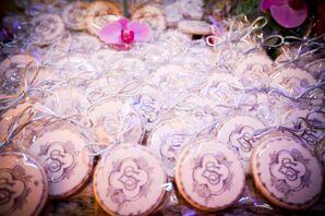 Monogrammed Cookie Wedding Favors