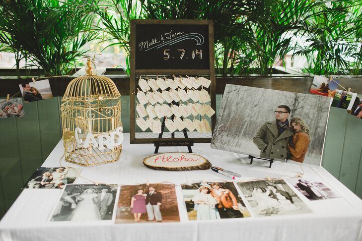 Escort Card and Guest Book Table