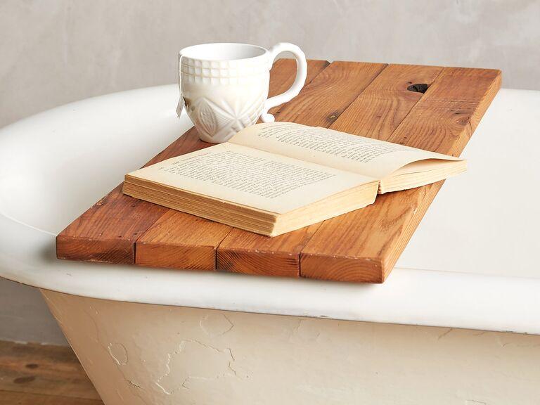 Peg & Awl bathtub caddy wedding registry