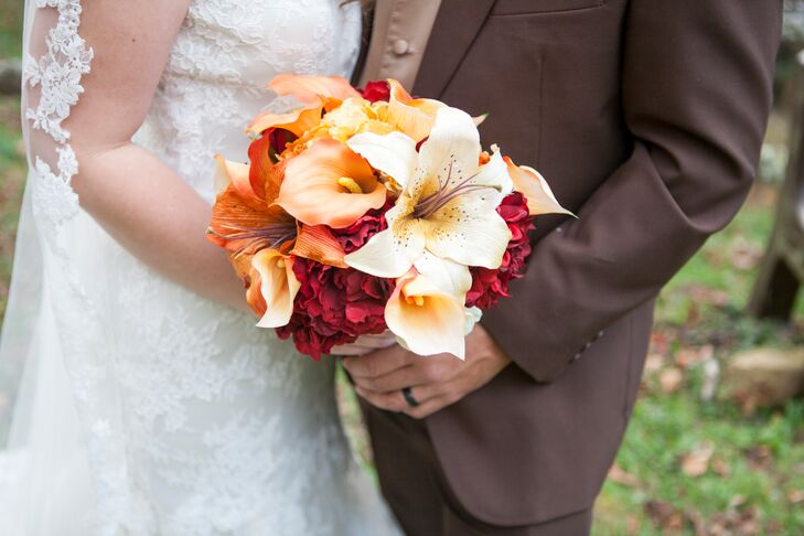 Orange Calla Lily and Lily Bouquet
