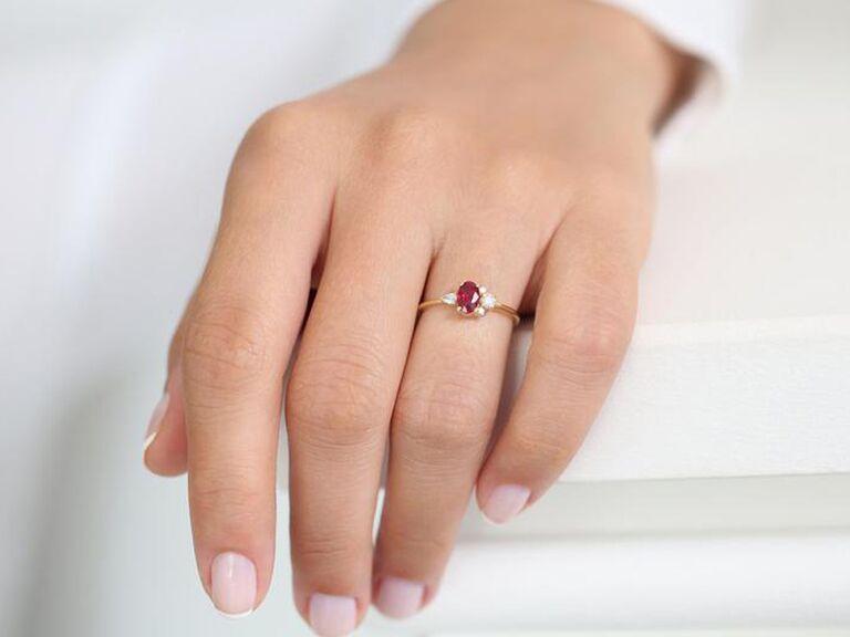Ruby alternative engagement ring