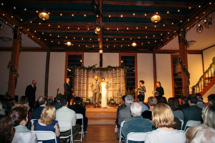"""The room where we held the ceremony is called the Big Room, and it's where we used to gather for school plays and other events when we were in high school, so it holds a lot of memories!"" says Gillian."
