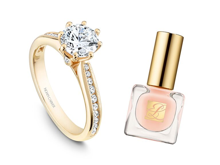 CrownRing yellow gold engagement ring