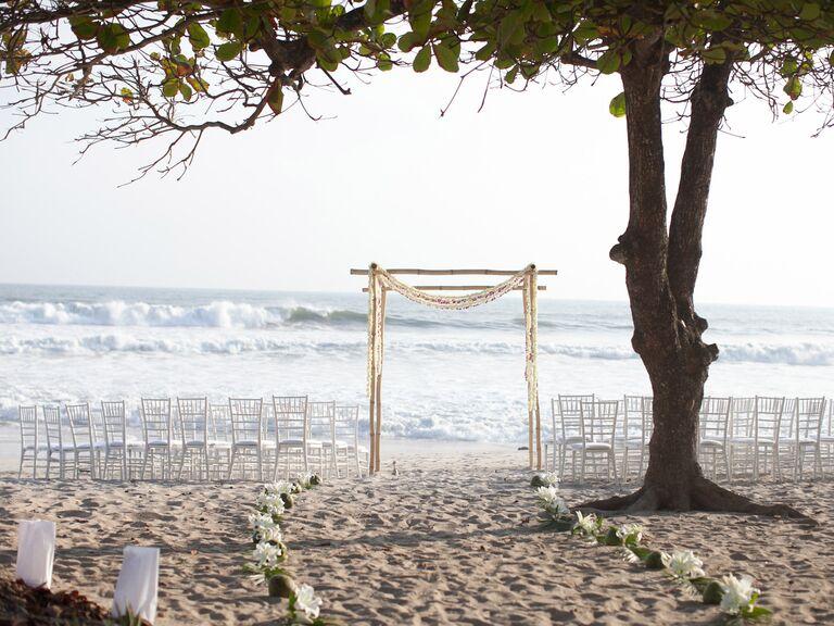 Oceanside destination wedding ceremony