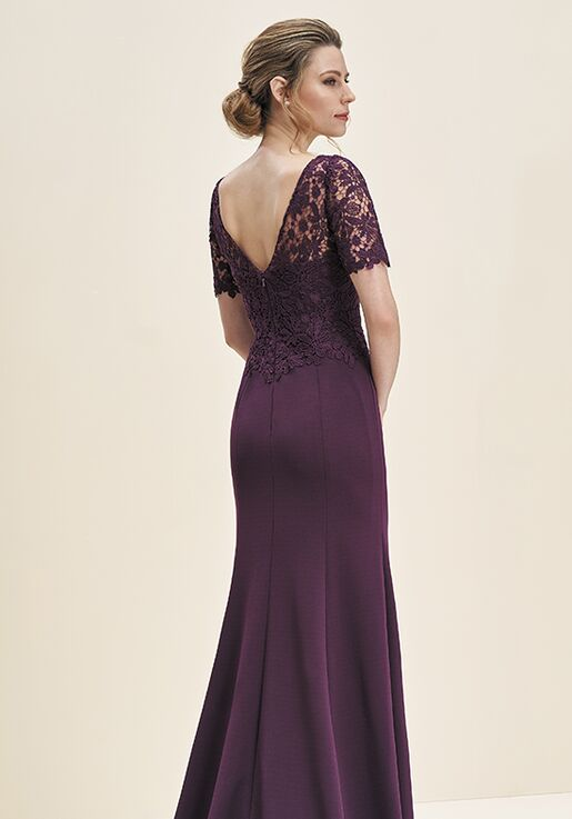 Jade Mother of the Bride by Jasmine J195061 Purple Mother Of The Bride Dress