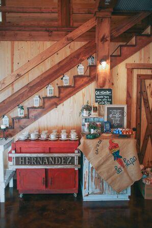 Personalized Costa Rican Reception Coffee Bar
