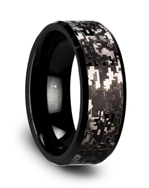 Mens Tungsten Wedding Bands W3764-BTDC Tungsten Wedding Ring