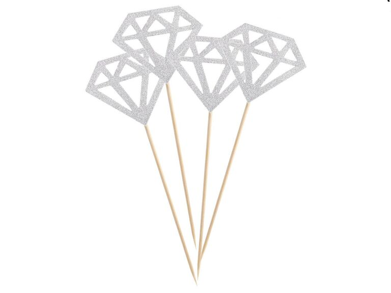 silver cupcake toppers