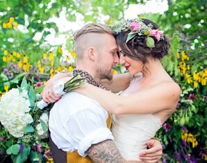 Bohemian Bride and Groom Style