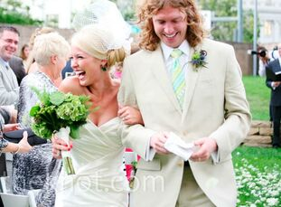 The Bride Julia Baker, 28, owner of Just Business LLC The Groom Jacob Hansen, 28, works for PaySimple while pursuing his music career with his band, T